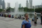 V parku pod Petronas Tower